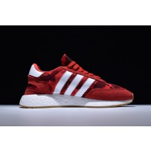 Adidas Iniki Boost RUNNERxBape Red Camo White