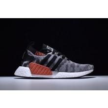Adidas NMD R2 Primeknit Black Grey Camo