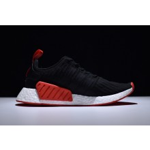 Adidas NMD R2 Primeknit Black Red