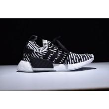 Adidas NMD R2 Primeknit Black White Stripes