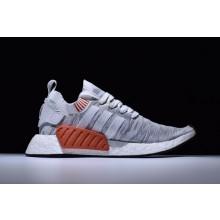 Adidas NMD R2 Primeknit Grey Red