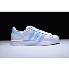 Adidas Superstar Foundation Baby Blue (Gold Label)