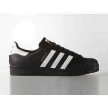 Adidas Superstar Foundation Black White ( Gold Label )
