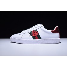 Gucci Ace Crystal Pineapple & Ladybird Embroidered Low-Top Sneaker