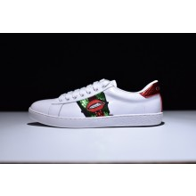 Gucci Ace Drill Lips Embroidered Low - Top Sneaker