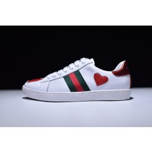 Gucci Ace Love Embroidered Low - Top Sneaker