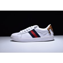 Gucci Ace Tiger Head Tail Embroidered Low - Top Sneaker
