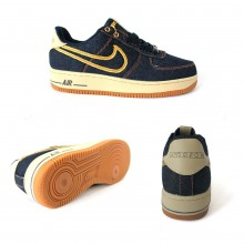 Nike Air Force 1 Blue Jeans Yellow