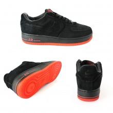 Nike Air Force 1 Black With Orange