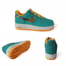 Nike Air Force 1 Limited Edition Green Orange
