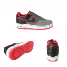 Nike Air Force 1 Dark Grey With Red
