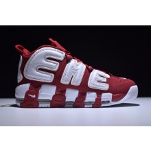 Nike Air More UPTEMPOxSupreme Red White