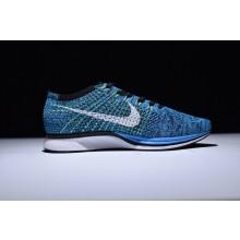 Nike Flyknit Racer Blue Glow White