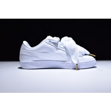 Puma Suede Basket Heart White
