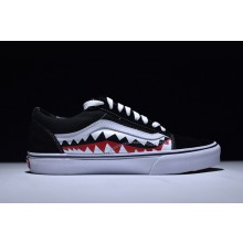 Vans Old Skool X Bape Shark Tooth Black